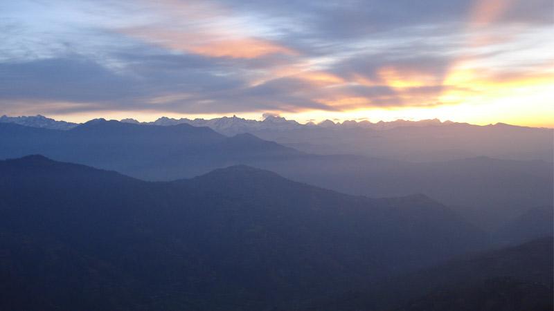 Sunrise Over the Himalayan Horizon -  himaland.com