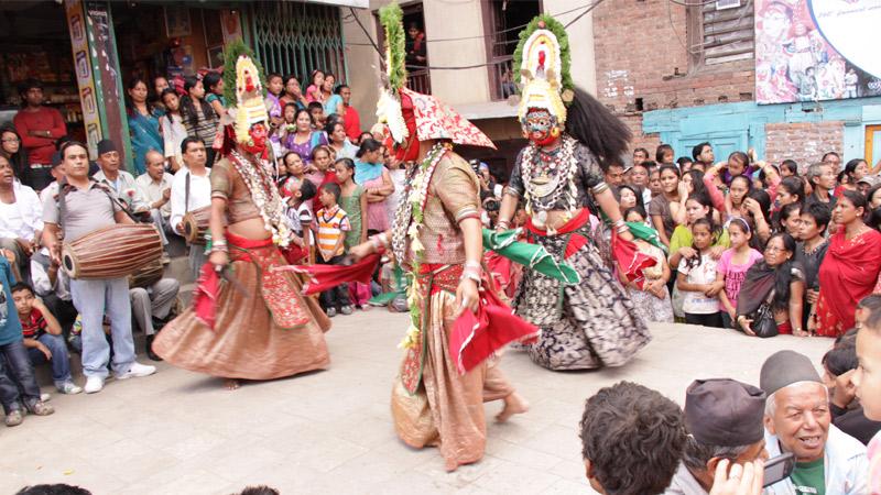 Lakhe Dance in Durbar Square  -  himaland.com