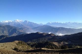 Everest Ansicht Tour auf der Straße in Nepal