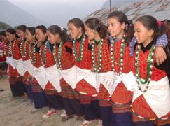 Nepal Dorfreise und Dorfhaus bleiben